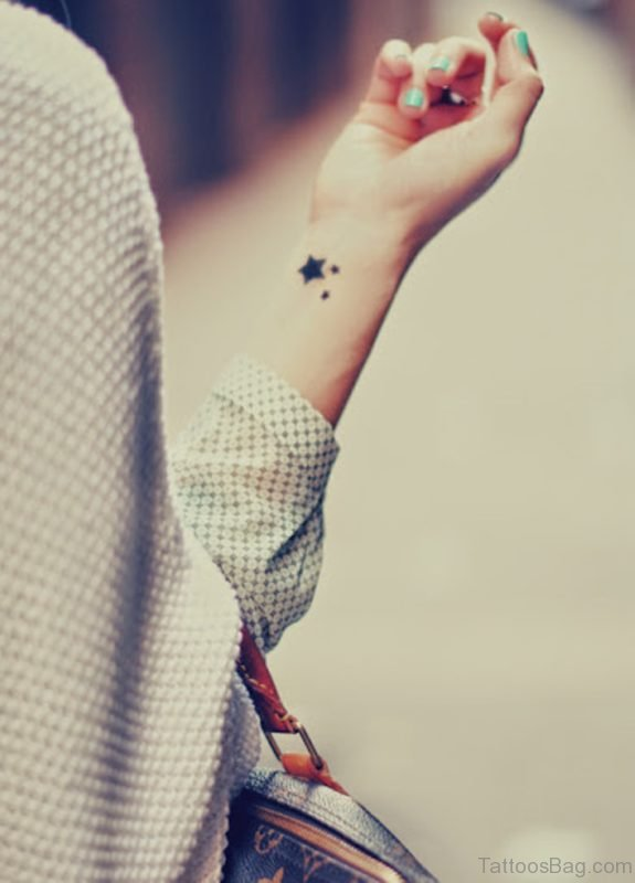 Nautical Star Tattoo Design On Wrist