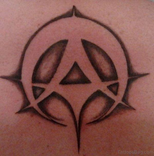 New Cool Atheist Tattoo On Back