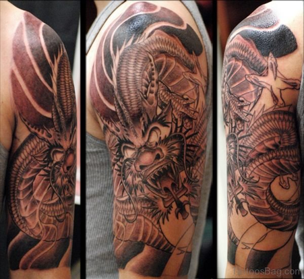 New Dragon Arm Tattoo Design