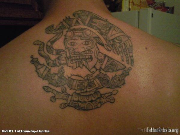 Nice Aztec Symbol Tattoo