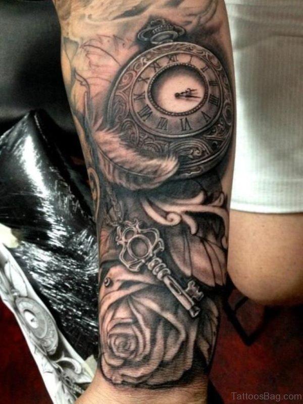 Nice Bio Mechanical Tattoo on Wrist Image