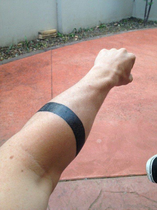 Nice Black Band Tattoo On Arm