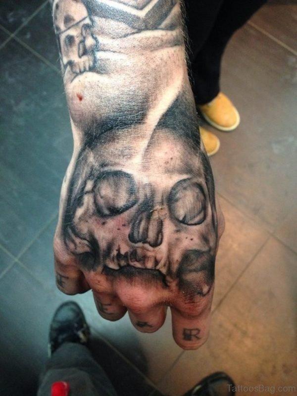 Nice Black Skull Tattoo