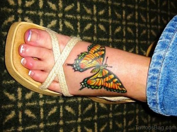 Nice Butterfly Designer Tattoo