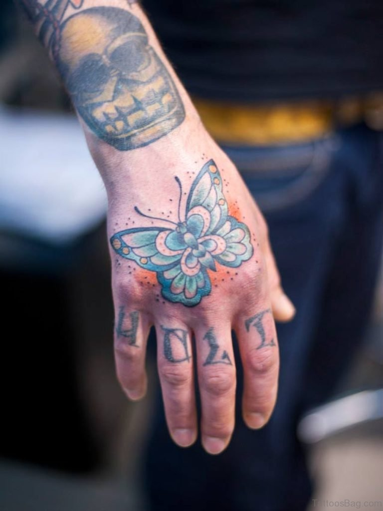 Tattoo Hand: 54 Awesome Butterfly Tattoos On Hand