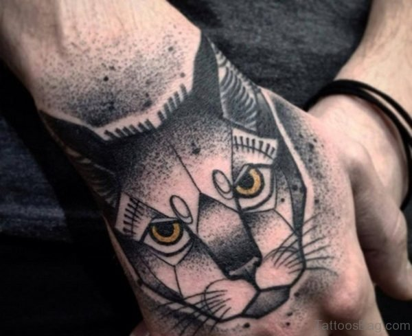 Nice Cat Tattoo On Hand
