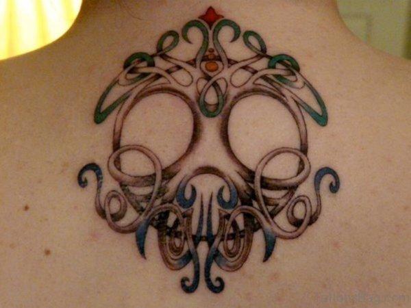 Nice Celtic Tree Of Life Tattoo On Upper Back
