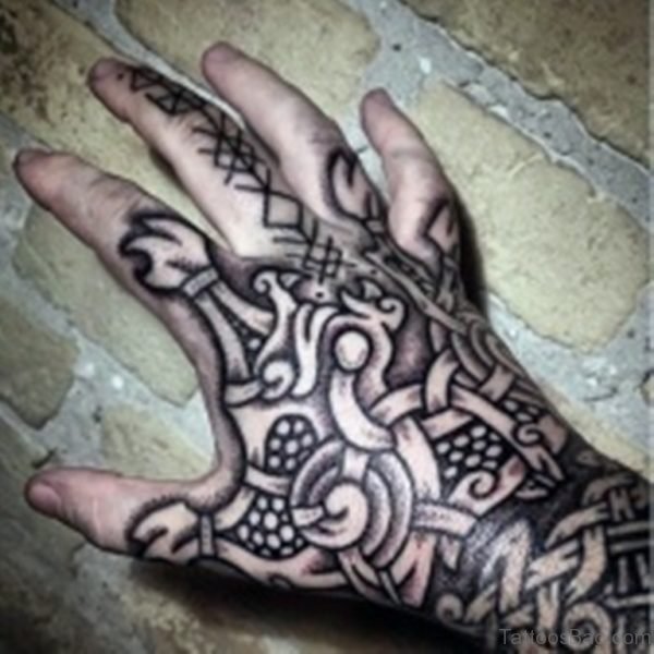 Nice Celtic Tattoo On Hand
