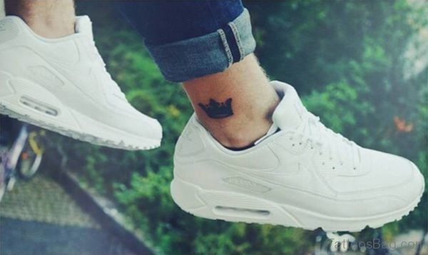 Nice Crown Tattoo On Ankle
