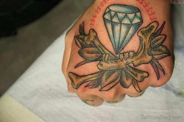 Nice Diamond Tattoo Design