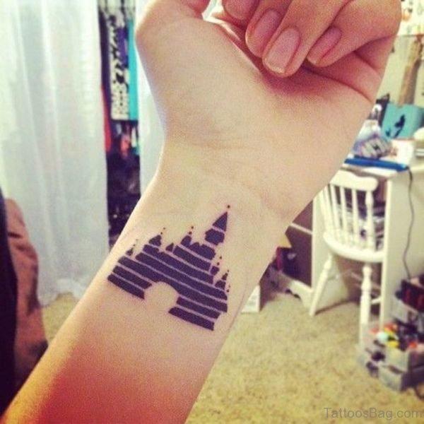 Nice Disney Castle Tattoo