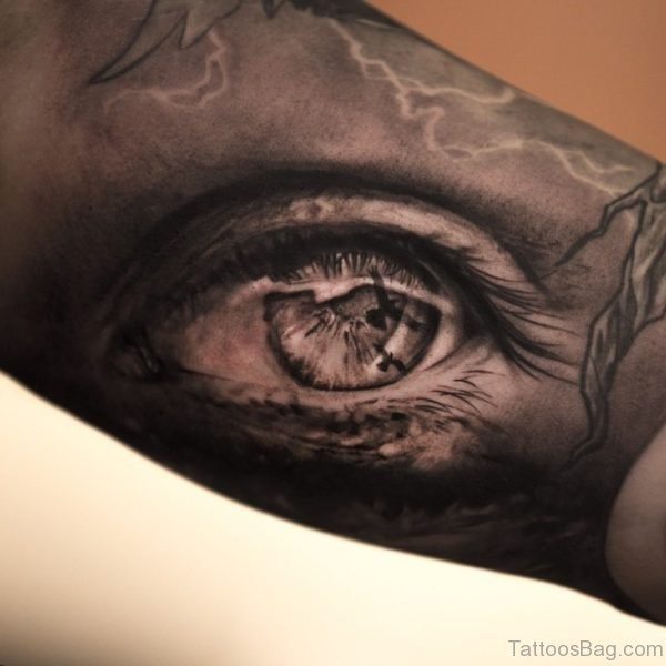Nice Eye Tattoo On Arm