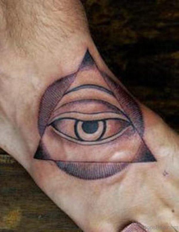 Nice Eye Tattoo On Foot