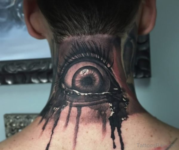 Nice Eye Tattoo On Nape