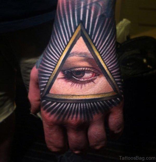 Nice Eye Tattoo on Hand