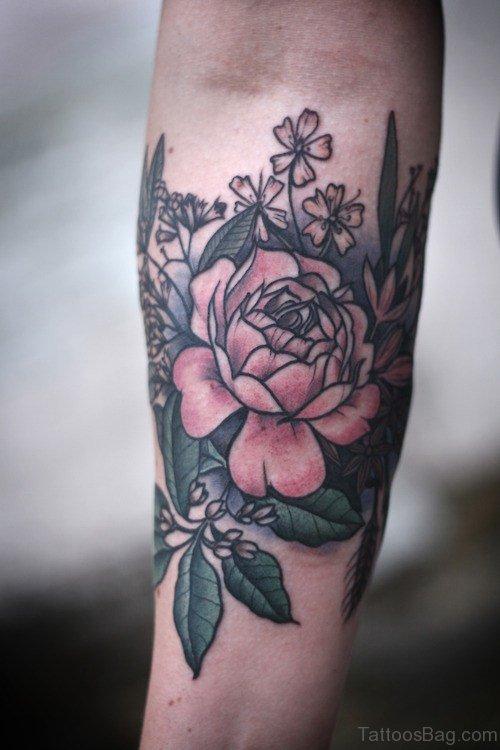 Nice Flower Tattoo on Arm