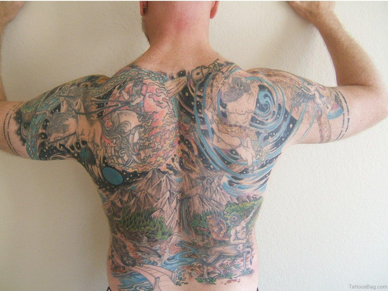 80 impressive back tattoos for Whole back tattoos