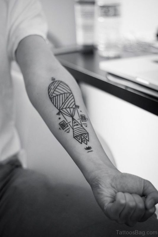 Nice Geometric Tattoo On Arm