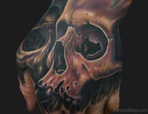 Nice Hand Skull Tattoo