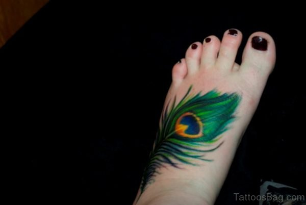 Nice Looking Feather Tattoo