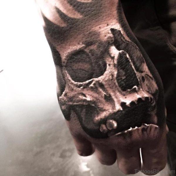 Nice Looking Skull Tattoo