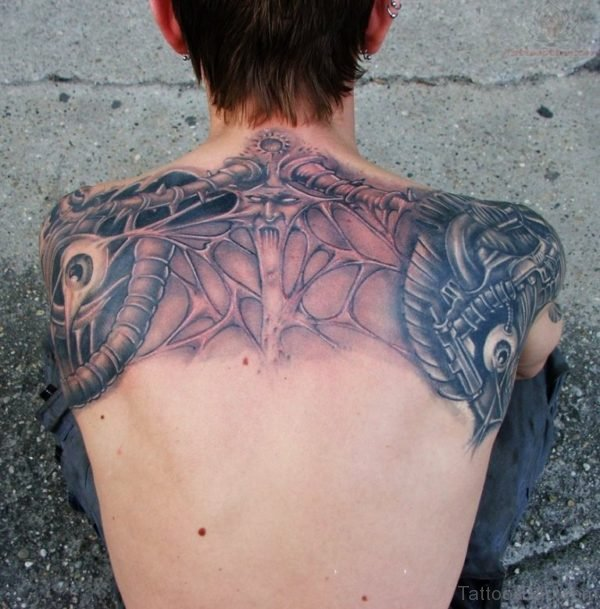 Nice Looking Upper Back Tattoo