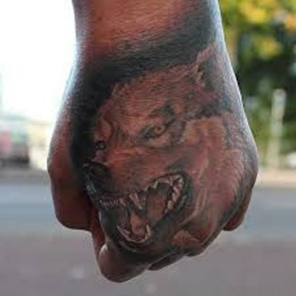Nice Looking Wolf Tattoo