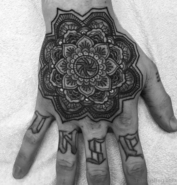 Nice Mandala Tattoo Design On Hand