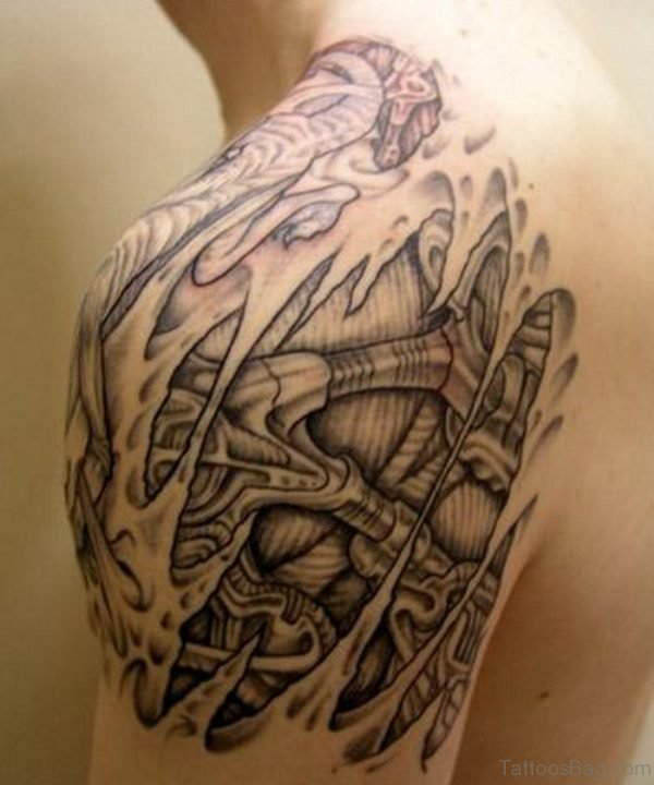 Nice Nordic Tribal Shoulder Tattoo