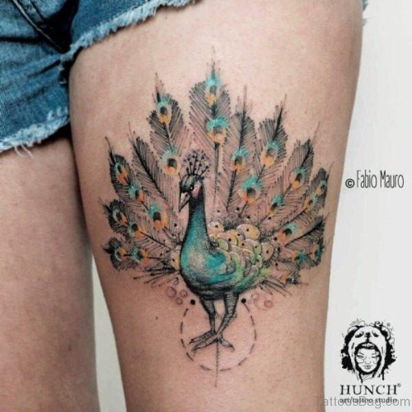 Nice Peacock Tattoo