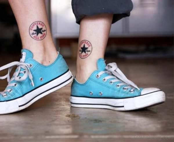 Nice Star Ankle Tattoo