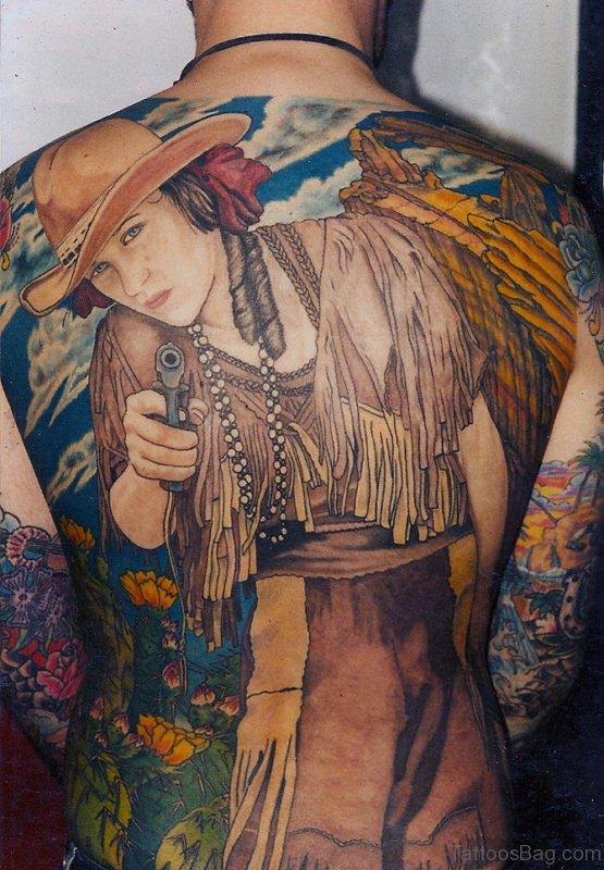 Nice Tattoo On Back Body