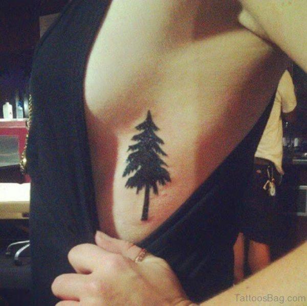 Nice Tree Tattoo On Rib