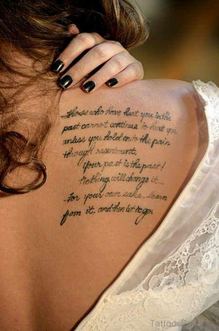 Nice Words Tattoo Design