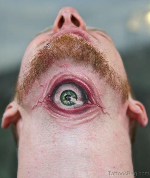 Nice eye Tattoo On Neck