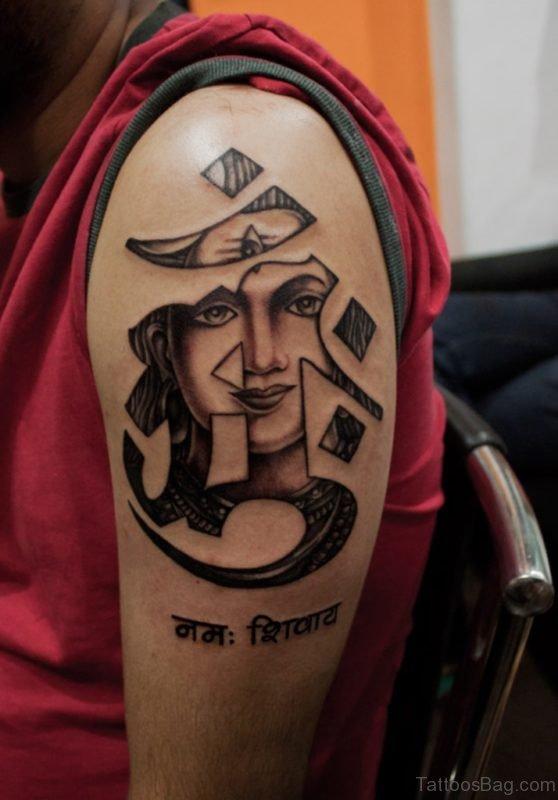 Om And Shiva Tattoo