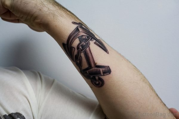 Outstanding Arm Anchor Tattoo
