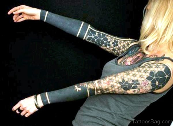 Outstanding Black Tattoo On Arm