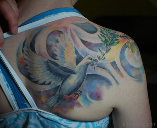 Outstanding Dove Tattoo