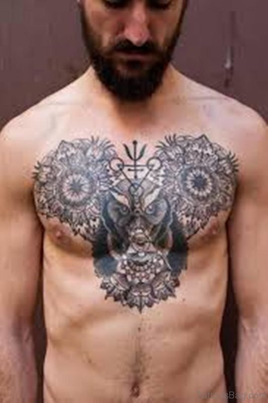 Owl And Tree Tattoo
