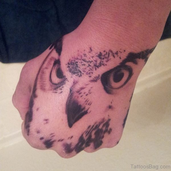 Owl Face Tattoo