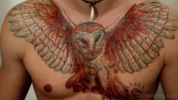 Owl Tattoo Design On Chest