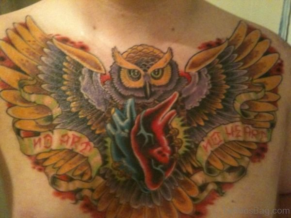 Owl Tattoo Design On Chest