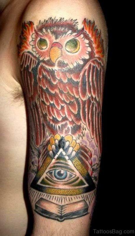 Owl Tattoo DesOwl Tattoo Design On Shoulder ign On Half Sleeve 5 TB1133ST1134