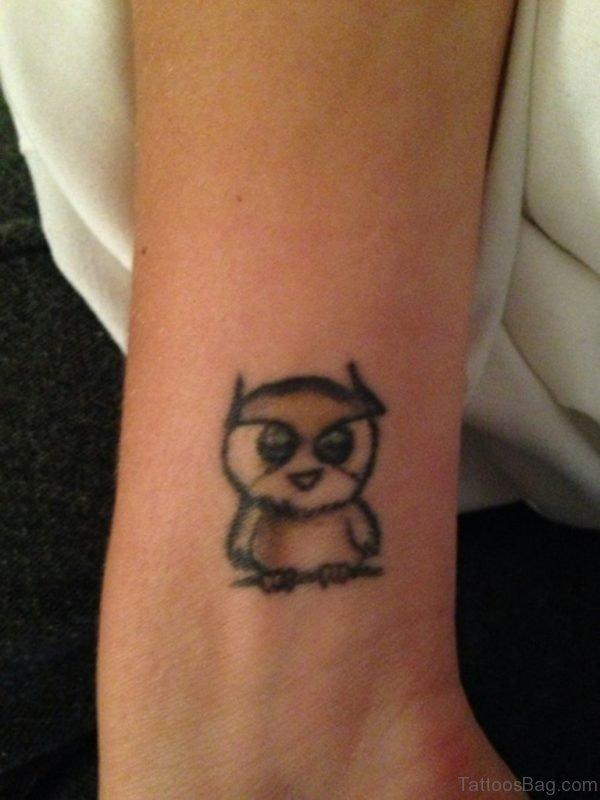 Owl Tattoo Design On Wrist