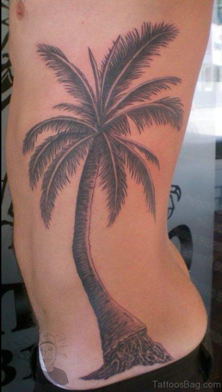 Palm Tree Tattoo On Rib