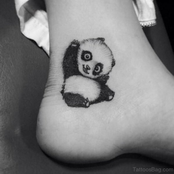 Panda Tattoo Design On Ankle