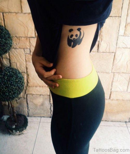 Panda Tattoo Design On Rib