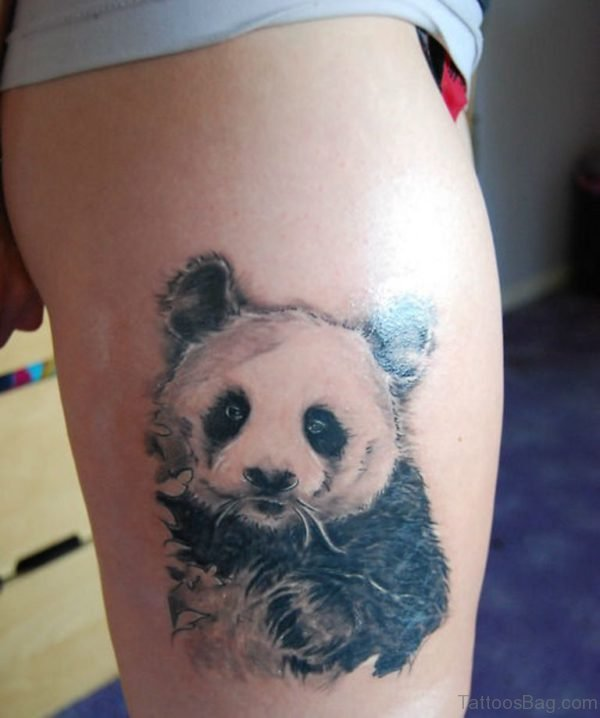 Panda Tattoo Design On Thigh