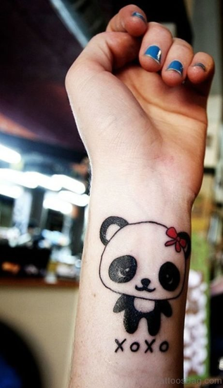 Panda Tattoo Design On Wrist